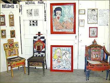 matt james, barristers gallery, outsider art, Andy Antippas