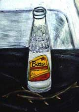 painting of a bottle