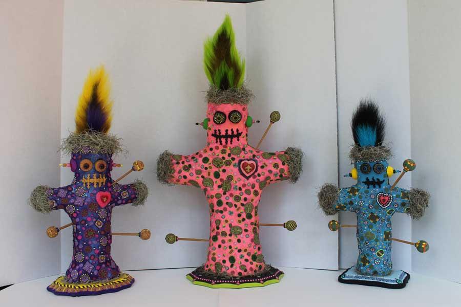 three Voodoo Dolls