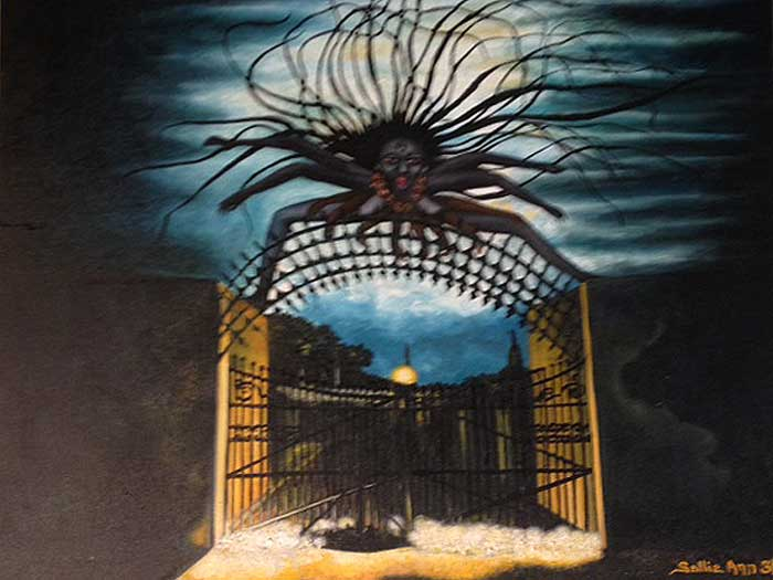 Kali At The Cemetery Gates