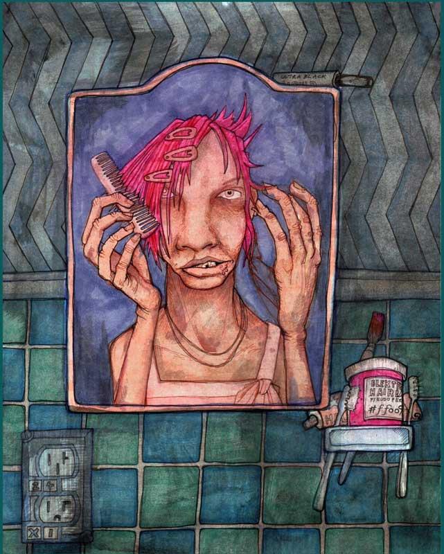 Sybil Comb (#FFo99--Pink Hair Dye), Lillian Butter