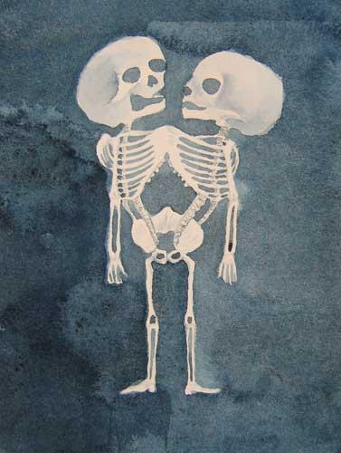 Naoe Suzuki, Skeleton drawing of Ritta-Christina, 2008