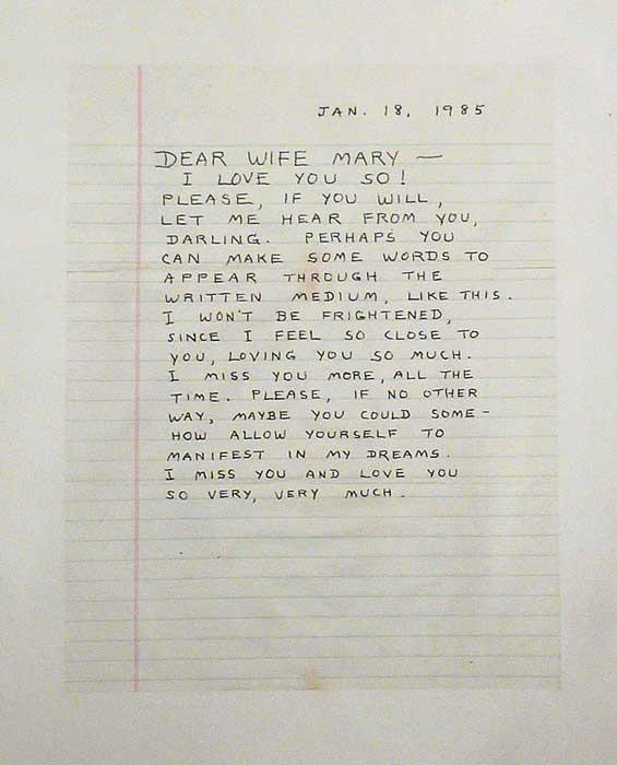 Brent Green ~ Letter