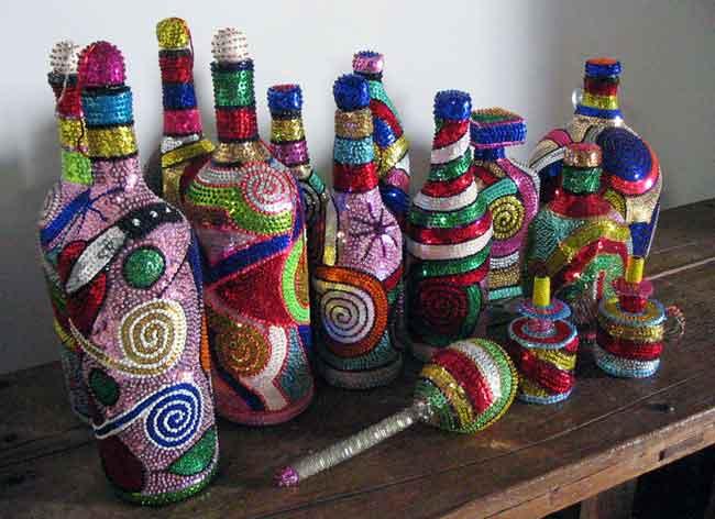 Beaded Bottles